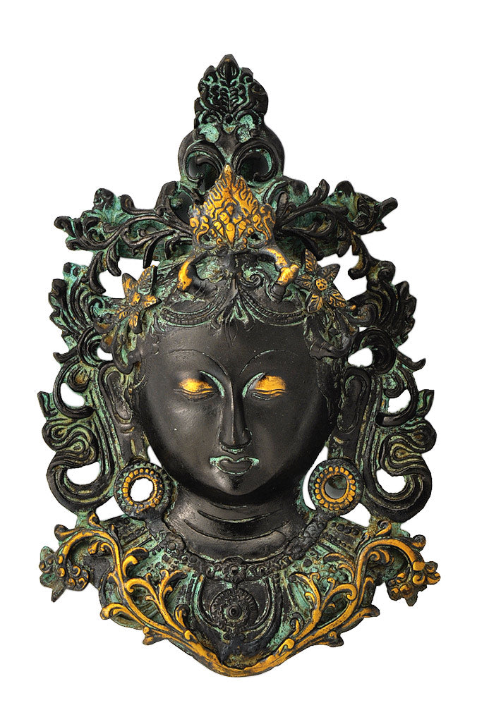 Goddess Tara Wall Mask in Antique Finish