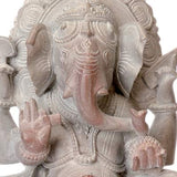 Blessing Lord Ganesha - Stone Sculpture