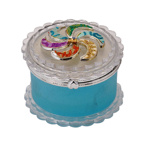 Round Shape Glass Jewelry Box