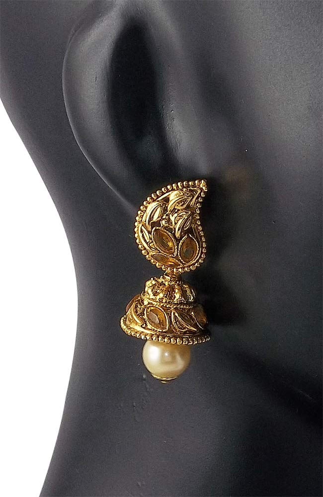 Golden Drop Earring Jhumki for Women