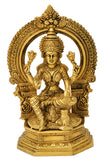 Blessing Devi Mahalakshmi - Exquisite Brass Sculpture