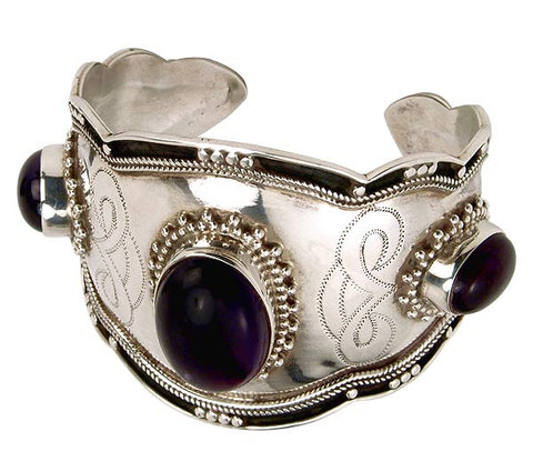 """Good Luck"" Silver Amethyst Bracelet"