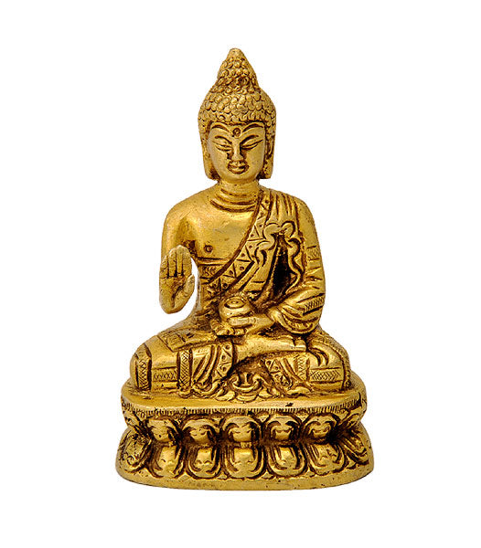 Blessing Buddha Brass Figure