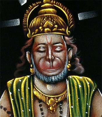 "Great Devotee of Lord Ram 'Hanuman"" Handmade Painting"