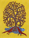 """Cheerful Morning"" Gond Painting"