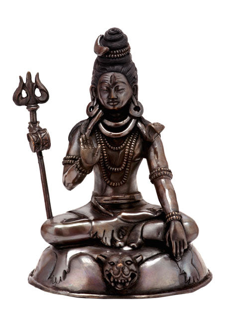 Lord Shiva Copper Sculpture