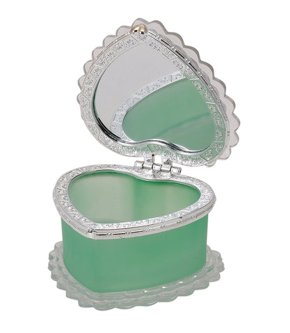 Heart Shape Glass Jewelry Box