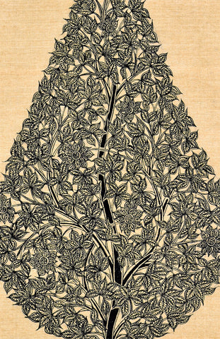 Tree with Flowers - Intricate Pattern Painting