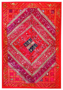 Red Lake - Cotton Wall Hanging