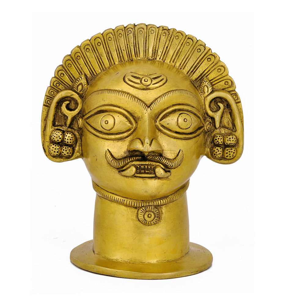 Bhairava Head in Brass