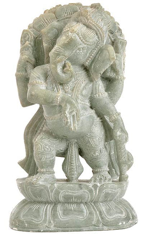 Standing Lord Ganesha - Stone Statuette