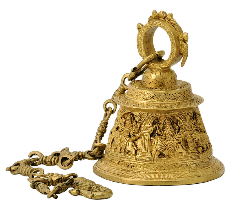 Maa Durga Carved Hanging Bell