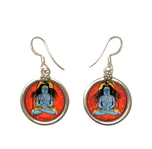 Lord Mahayogi Shiva - Earrings