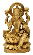 Lakshmi Mata 'Goddess of  Wealth' Brass Sculpture