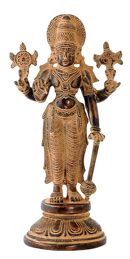 Lord Vishnu - Antiquated Brass Figure