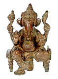 Ganesh Seated on Chowki
