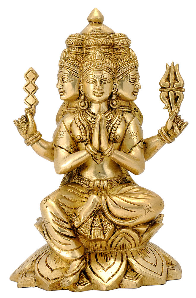 Seated Murugan Kartikeya Sculpture