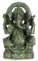 'God of Good Luck' Ganesha Stone Sculpture
