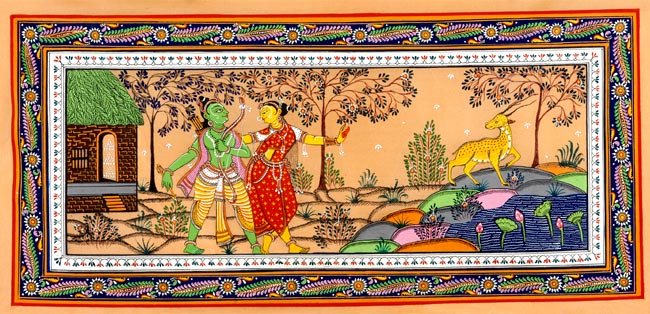 Sita and the Golden Deer - Ramayana Painting