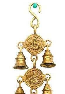 Goddess Lakshmi Bell Brass Wall Hanging