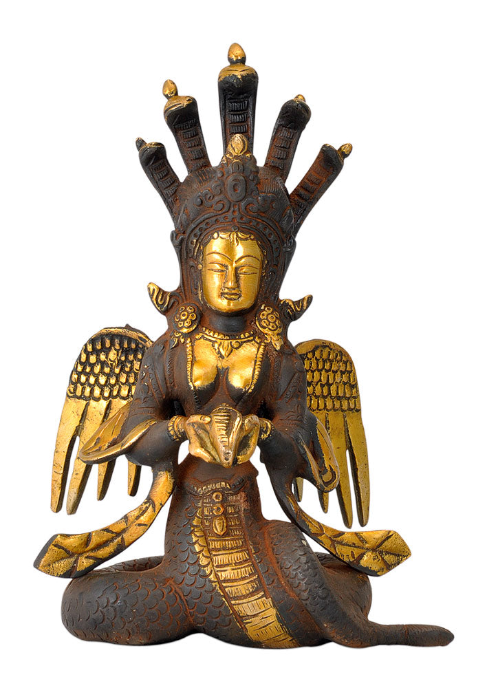 Naag Kanya Golden Brown Finish Statue