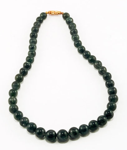 Indian Girl - Moss Agate Natural Stone Necklace