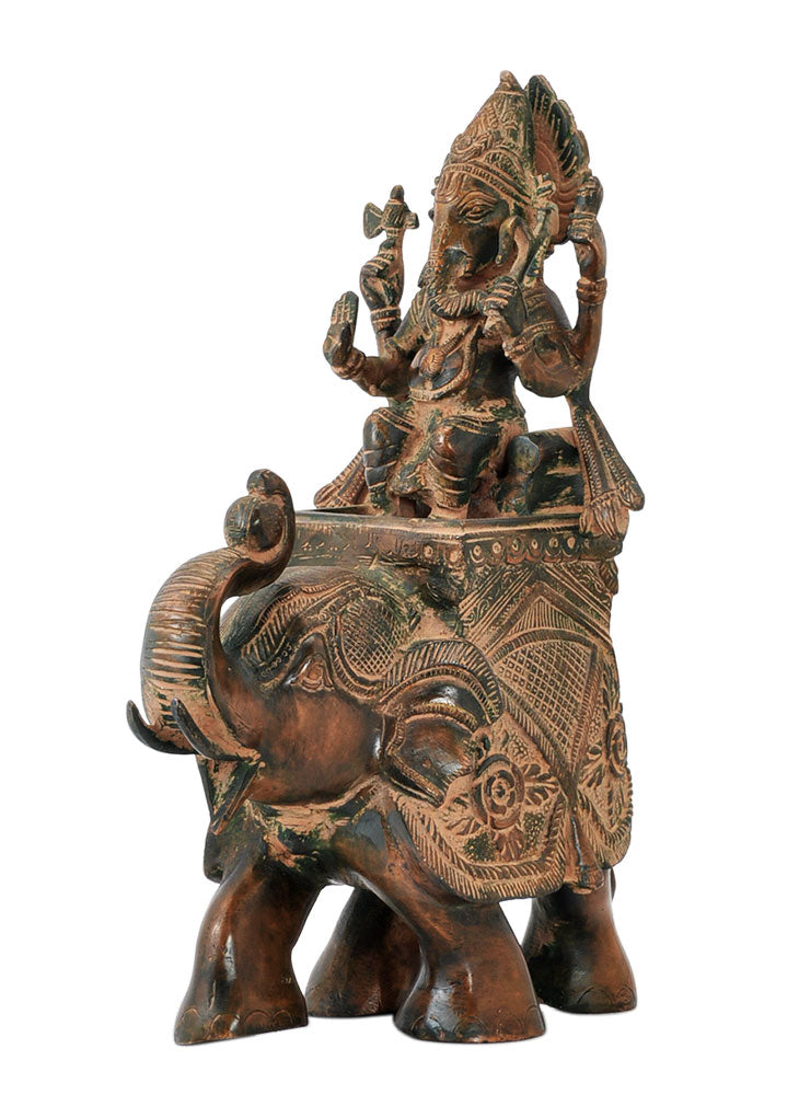 God Gajanan Ganesha Riding on Elephant