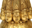 Ten Headed Shiva Mandala - Brass Sculpture