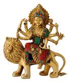 Goddess Durga Riding on Lion