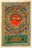 Surya Prakriti with Creatures - Madhubani Painting