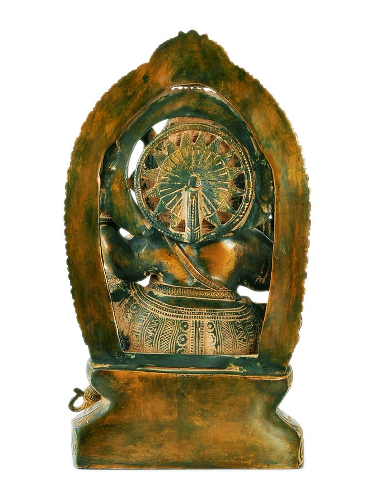 Chaturbhuja Lord Vinayaka Brass Sculpture