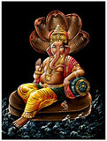 Lord Vinayak Seated on Sheshanaga