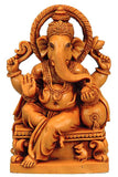 Ganesha Seated on Throne - Resin Statuete
