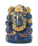 Beautiful Lord Ganesha - Painted Lapis Statue 2""