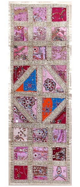 Cotton Wall Hanging 'Pink Mauve'