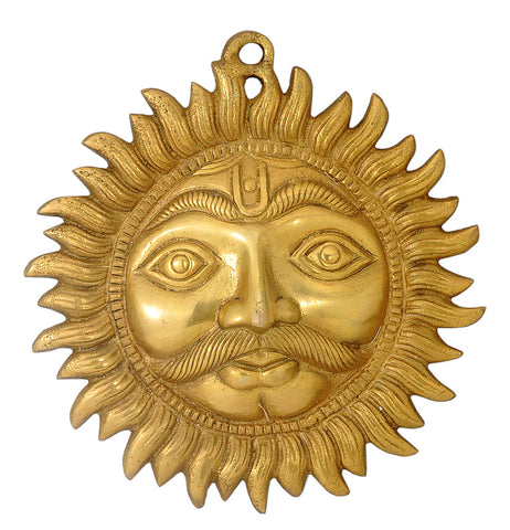 Brass Sun Face Wall Hanging
