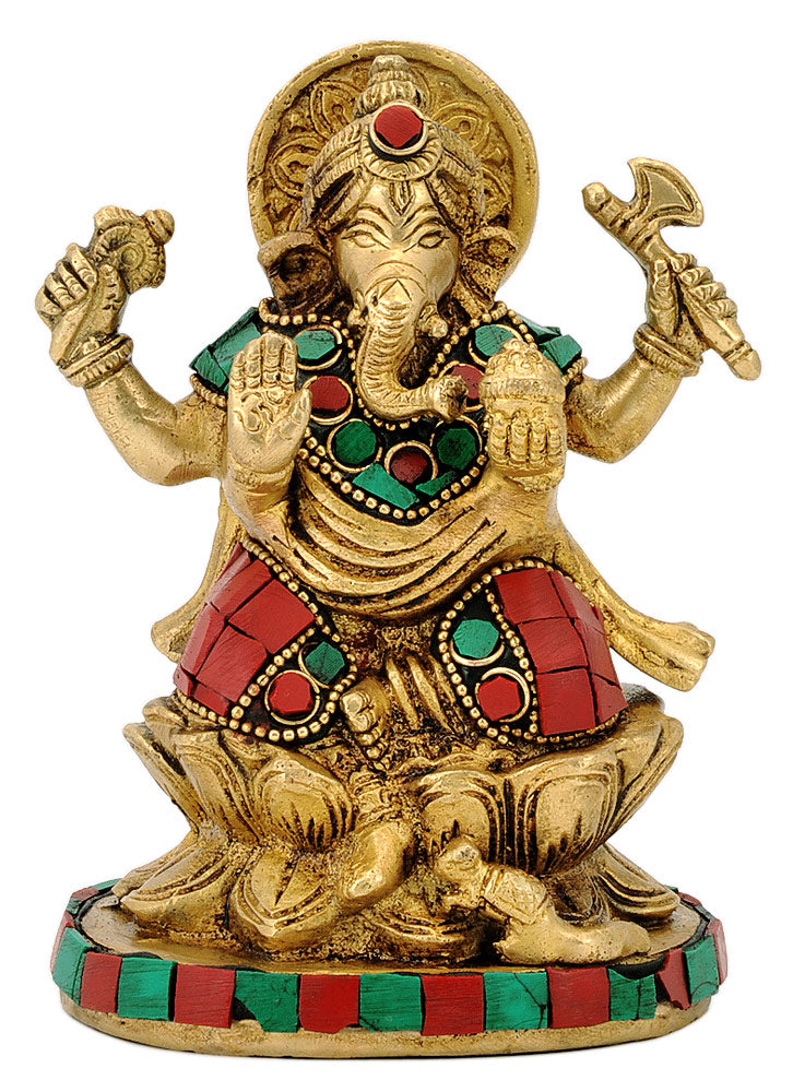 Lord Vinayaka Statue with Stones