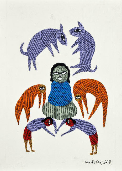 The Revered Ascetic - Gond Painting