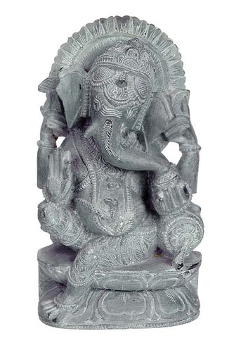 Blessing to All - Ganesha Stone Statuette 6.50""