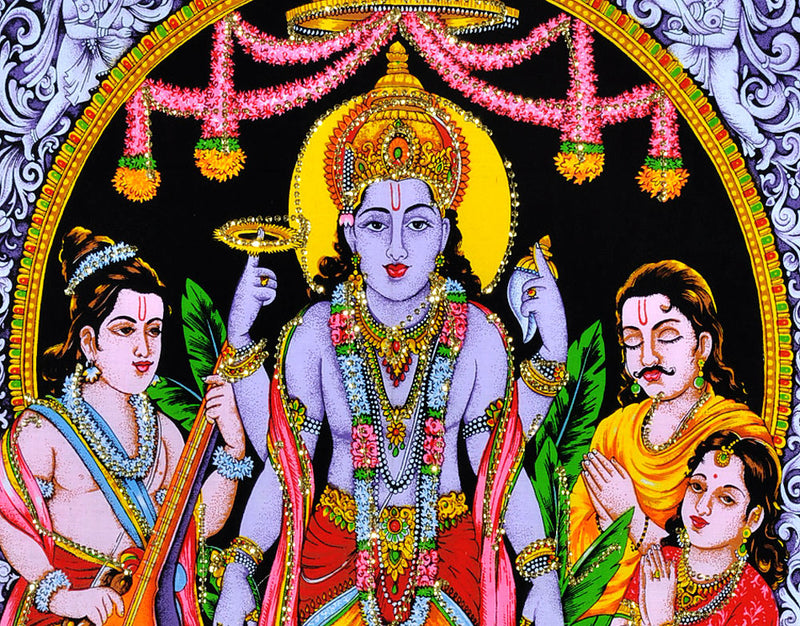 Shri Satyanarayan Puja Cotton Painting