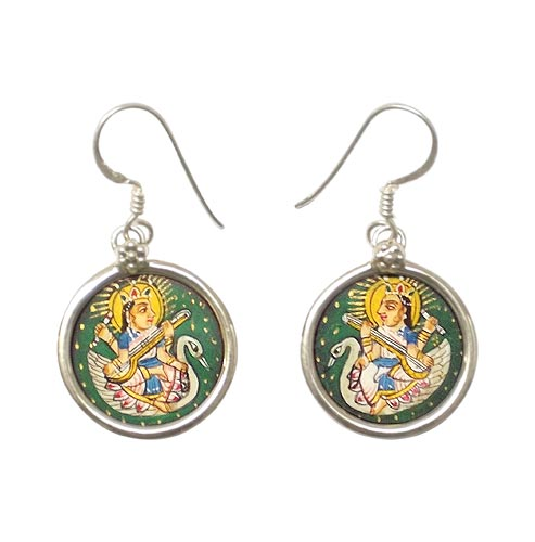 Goddess Saraswati - Earrings