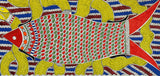 'Amazing Fishes' Madhubani Painting