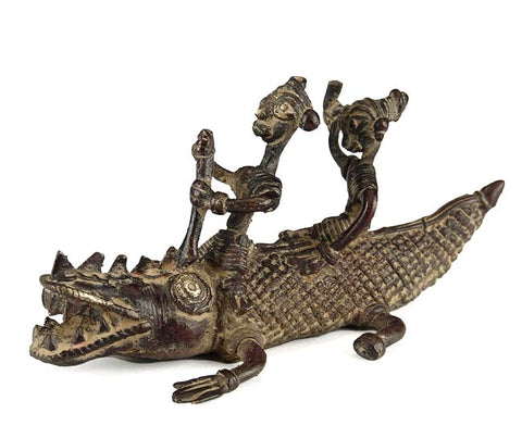 Tribal Statuuette 'Crocodile Riders'