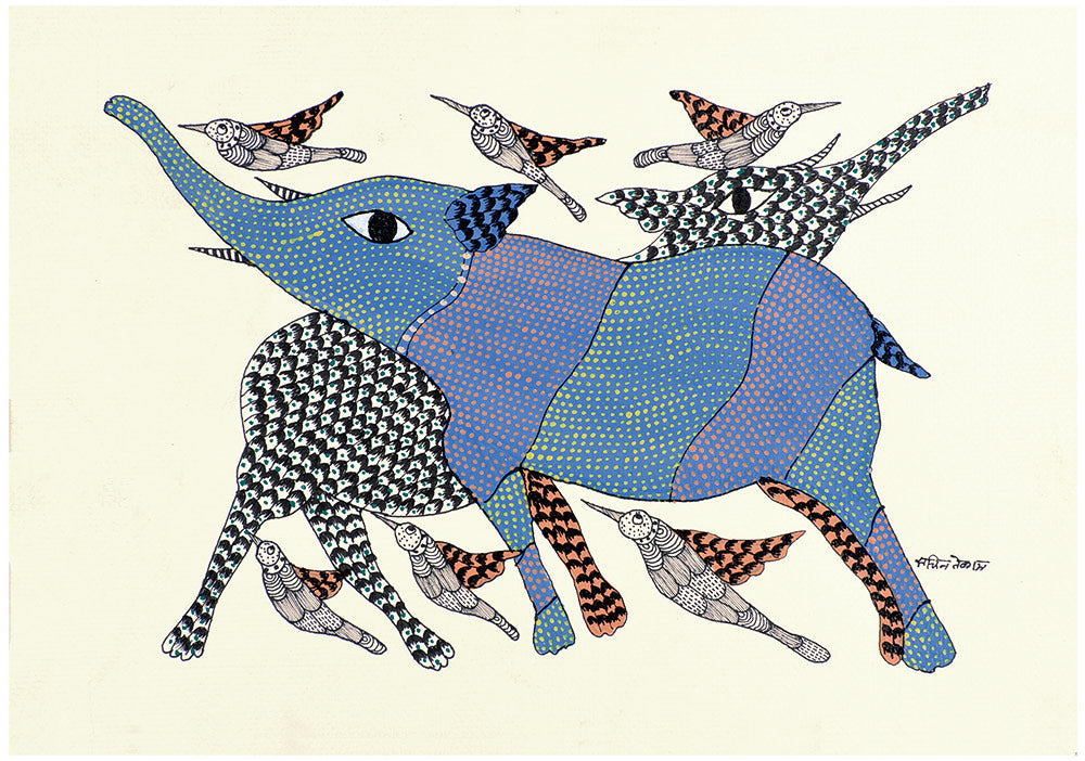 Joy - Gond Bhil Tribal Painting