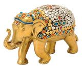 Decorative Elephant Brass Statue 9.30""
