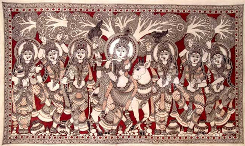 Krishna with Gopis under Kadamba Tree