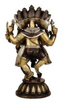 Panchmukhi Ganesha Brass Sculpture