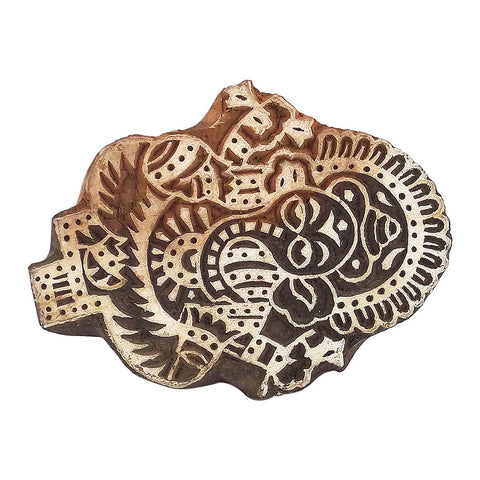Lord Ganesha Wooden Printing Stamp