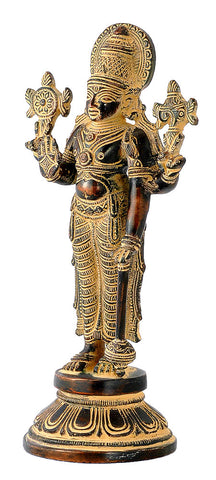 Lord Vishnu Antique Finish Statue