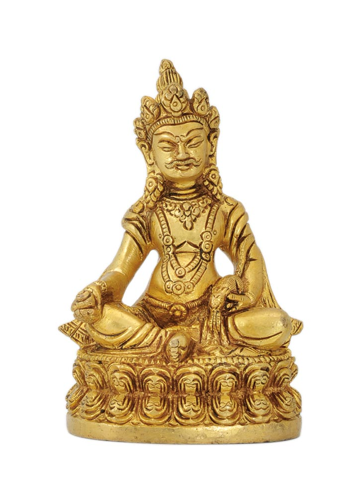 Lord of Wealth Kuber - Fine Brass Figurine